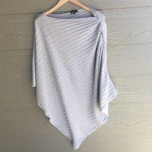 Lane Bryant grey Assymetrical cape poncho top
